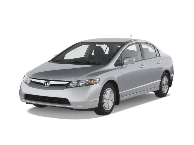 Angular Front Exterior View 2008 Honda Civic Hybrid 4 Door Sedan