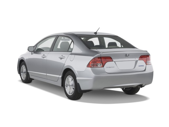 2008 Honda Civic Hybrid 4-door Sedan Angular Rear Exterior View