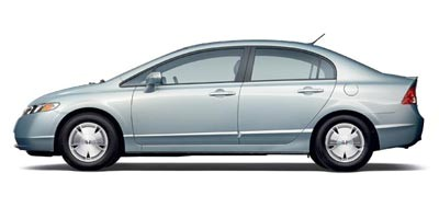 Side view of 2008 Honda Civic Hybrid 4dr Sdn w/Nav Silver