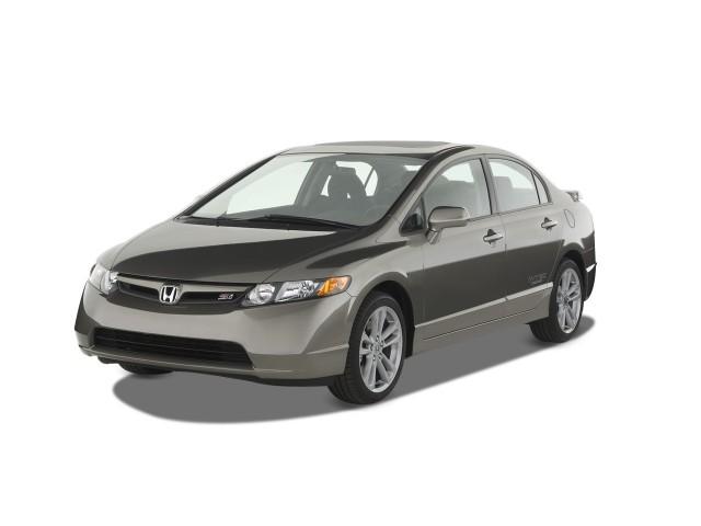 2008 Honda Civic Sedan 4-door Man Si w/Summer Tires Angular Front Exterior View