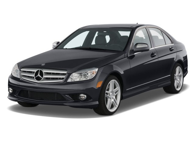 2008 Mercedes-Benz C Class 4-door Sedan 3.5L Sport RWD Angular Front Exterior View