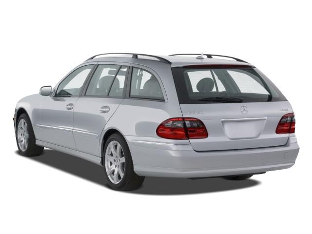 image 2008 mercedes benz e class 4 door wagon 3 5l 4matic awd angular rear exterior view size. Black Bedroom Furniture Sets. Home Design Ideas