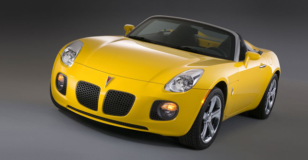 The last car to roll off the line at GM's Boxwood Road assembly plant in Delaware was a silver Pontiac Solstice