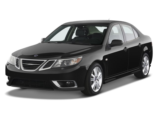 2008 Saab 9-3 4-door Sedan Aero Angular Front Exterior View