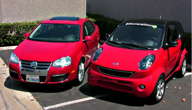 2008 Volkswagen Jetta and 2009 WheeGo Whip NEV