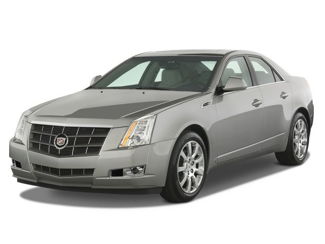 2009 Cadillac CTS 4-door Sedan RWD w/1SA Angular Front Exterior View