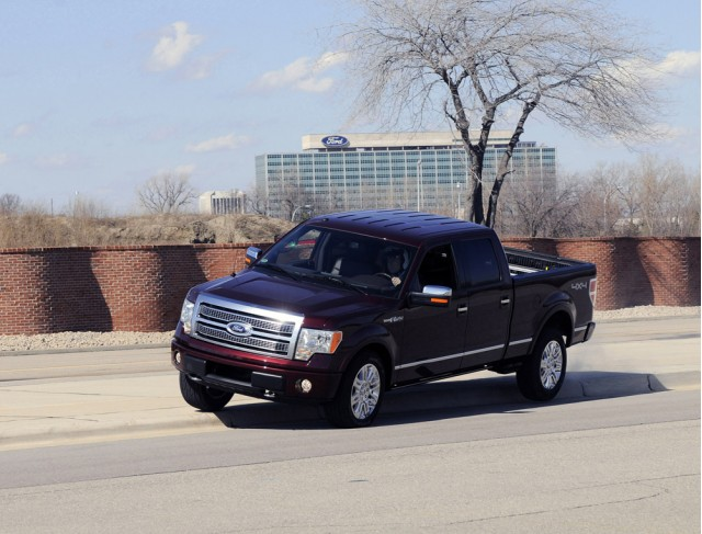 2009 Ford F-150 jumping curb for airbag sensor test