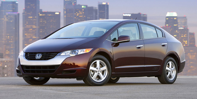 Honda's FCX Clarity is one of the few hydrogen fuel-cell vehicles built and sold to the public by a major carmaker