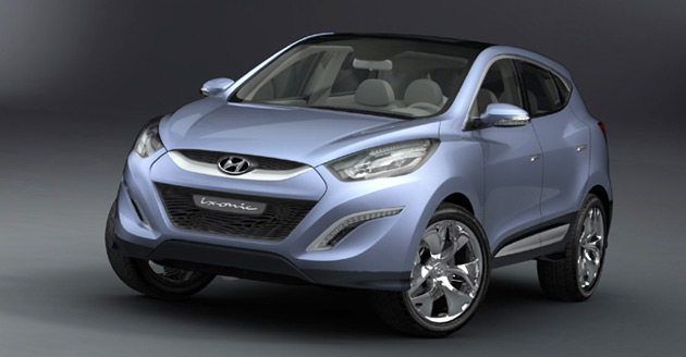 According to Hyundai, the HED-6 previews the design of the company's future SUVs such as the 2010 Tucson