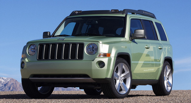 The Jeep Patriot EV range-extended vehicle can drive up to 40 miles on electric power alone