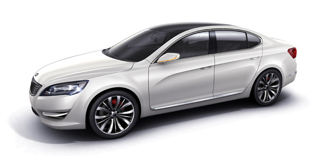 The production version of the KND-5 will be sold alongside the 2010 Kia Amanti as a more upmarket option