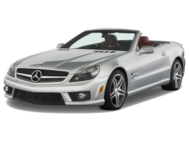 2009 Mercedes-Benz SL Class 2-door Roadster 6.2L AMG Angular Front Exterior View