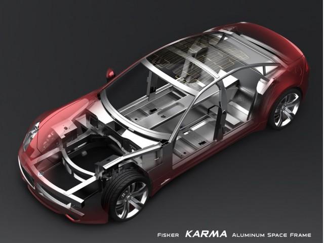 2009 rendering of Fisker Karma space frame