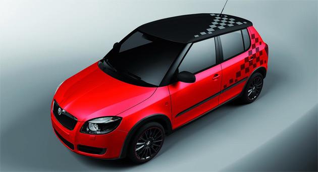 skoda previews sporty fabia vrs with new sport design concept. Black Bedroom Furniture Sets. Home Design Ideas