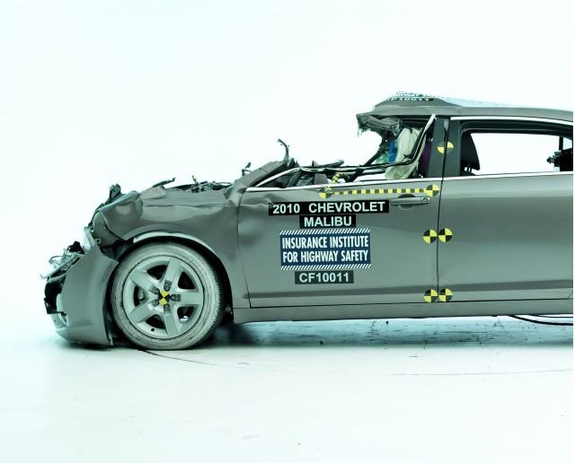 2010 Chevrolet Malibu - IIHS rear impact with semi-trailer, severe underride
