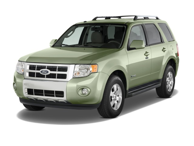 Angular Front Exterior View 2010 Ford Escape Hybrid 4wd 4 Door Limited