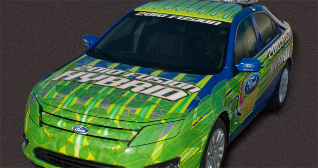 Ford's Fusion NASCAR racer gets a hybrid companion to kick off the Ford 400