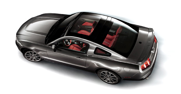 The glass roof is available as a $1,995 option on both the V6 model and the GT