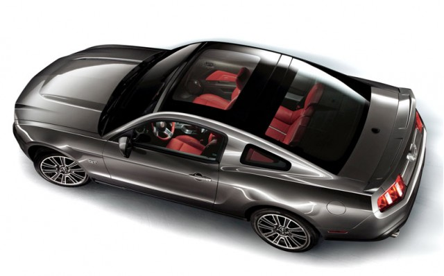 2010 Ford Mustang with glass roof
