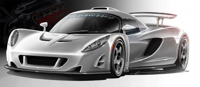 2010 Hennessey Venom GT Concept Preview Sketch