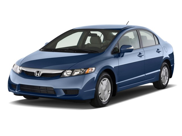 Angular Front Exterior View - 2010 Honda Civic Hybrid 4-door Sedan L4 CVT