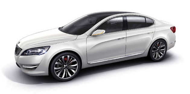 The Amanti will ride on a new FWD platform shared with Hyundai's next-generation Azera (Grandeur) sedan