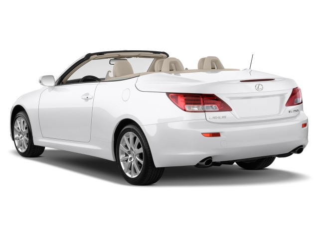 2010 Lexus IS 250C 2-door Convertible Auto Angular Rear Exterior View