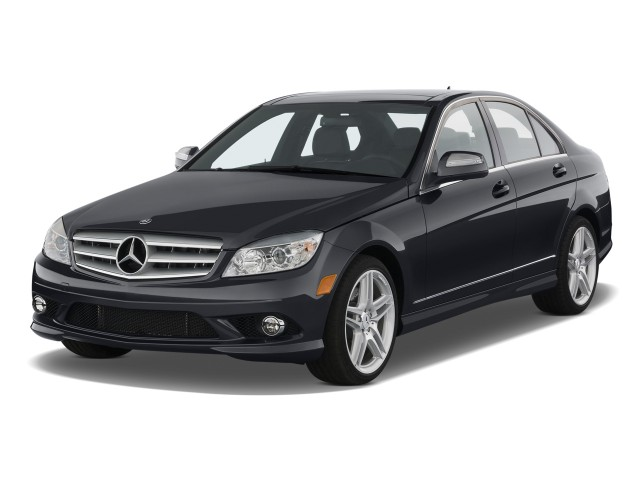 2010 Mercedes-Benz C Class 4-door Sedan 3.5L Sport RWD Angular Front Exterior View