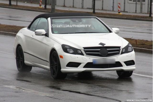 2010 mercedes benz e class cabrio spy shots february 005