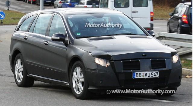 2010 mercedes benz r class facelift spy shots december 003