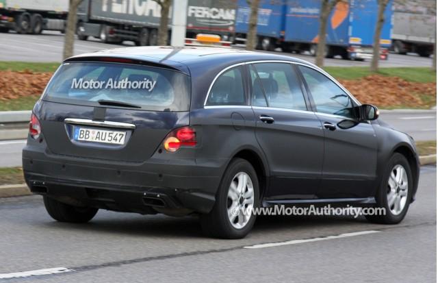 2010 mercedes benz r class facelift spy shots december 007