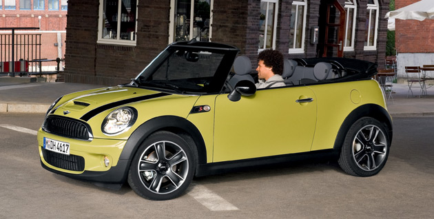 New Mini Cooper Cabrio's automatic soft-top roof can be lowered in just 15 seconds at speeds of up to 30km/h
