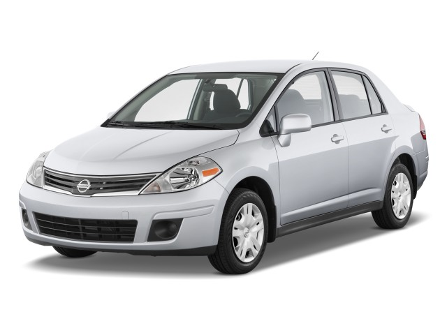 2010 Nissan Versa 4-door Sedan I4 Auto 1.8 S Angular Front Exterior View