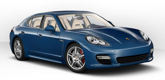 Now you can build your own four-door Porsche online, and save an image of the result