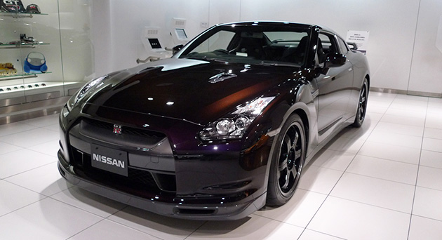 New GT-R SpecV is available with an exclusive 'Ultimate Black Opal' finish. Photos copyright ©2009 MotorAuthority.com