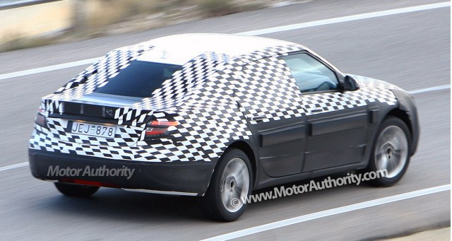 2010 saab 9 5 spy shots january 006