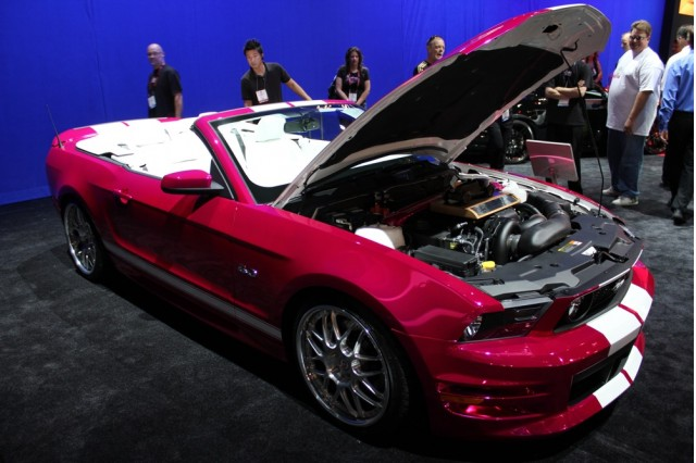 2010 SEMA: Pony Girl 2011 Ford Mustang Creations n' Chrome live photos