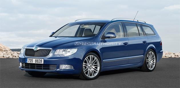 We should first see the wagon variant of the Skoda Superb at September's Frankfurt Motor Show