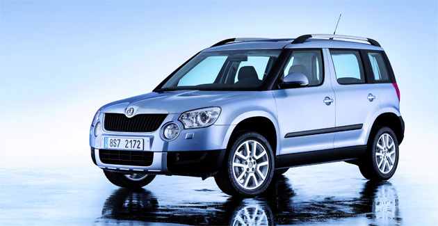 The Skoda Yeti will be launched with two petrol engines and three new diesels