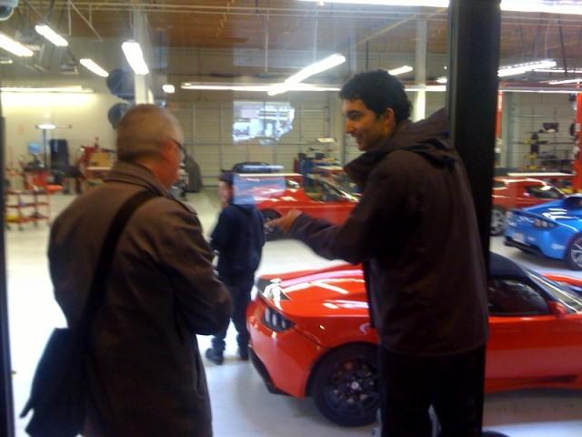 2010 Tesla Roadster Sport and Bruce Richter