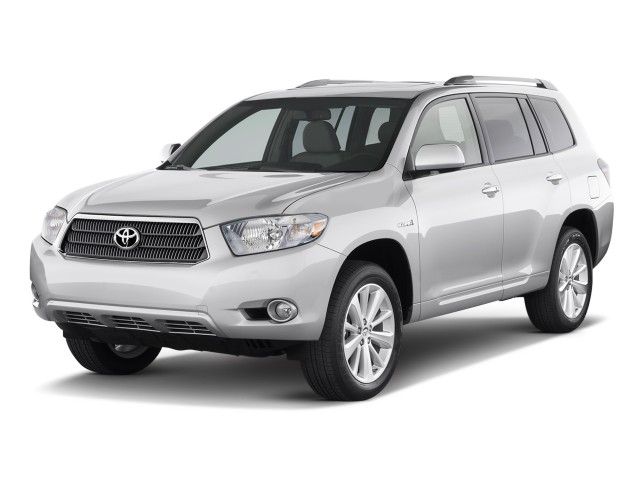 Angular Front Exterior View - 2010 Toyota Highlander Hybrid 4WD 4-door Limited (Natl)