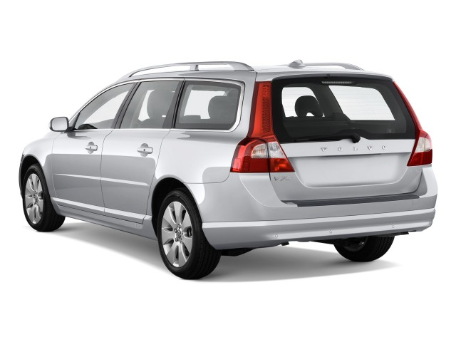 Angular Rear Exterior View - 2010 Volvo V70 4-door Wagon