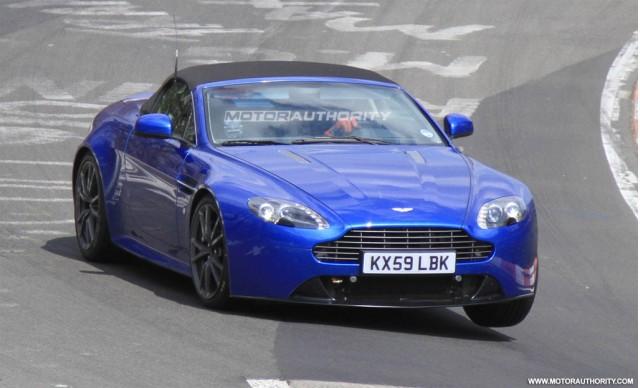 2011 Aston Martin Vantage Roadster facelift spy shots