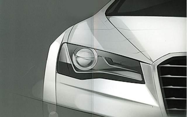 2011 Audi A8 headlight sketch