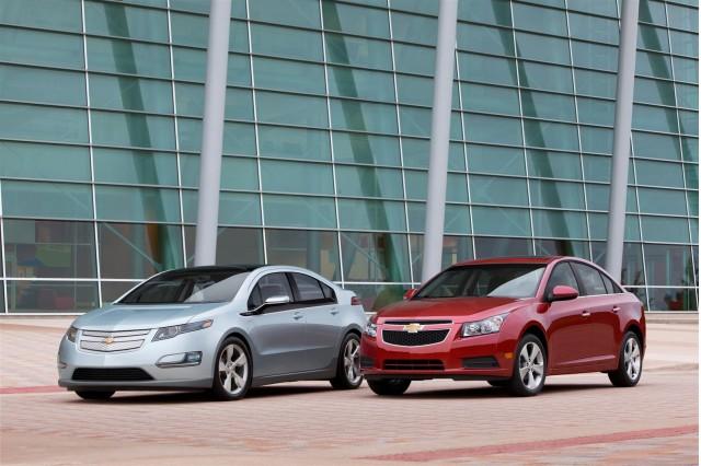 2011 Chevrolet Cruze and pre-production 2011 Chevrolet Volt