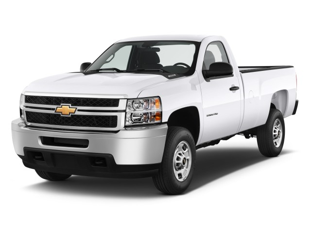 "2011 Chevrolet Silverado 2500HD 2WD Reg Cab 133.7"" Work Truck Angular Front Exterior View"