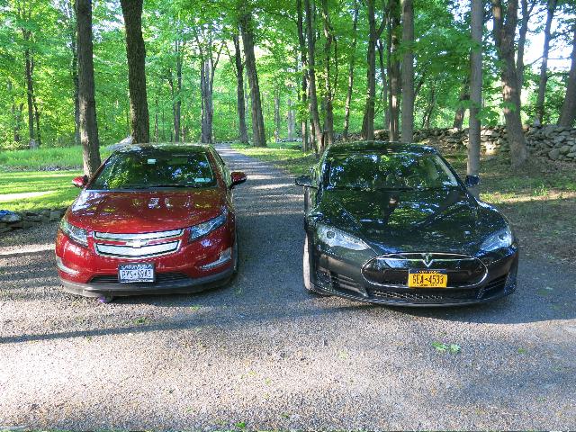 2011 Chevrolet Volt and 2013 Tesla Model S [photo: David Noland]