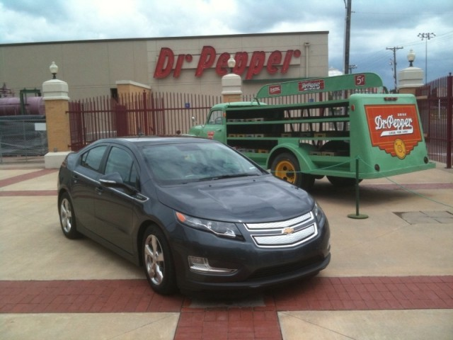 2011 Chevrolet Volt in Waco, Texas, en route during the 1,776-mile Freedom Drive PR stunt