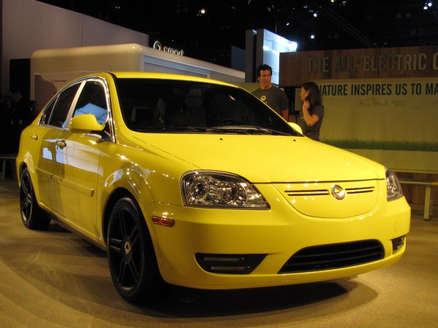 2011 Coda Sedan electric car, at 2010 Los Angeles Auto Show