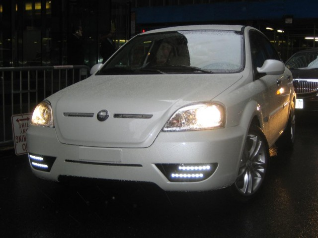 2011 Coda Sedan prototype - front